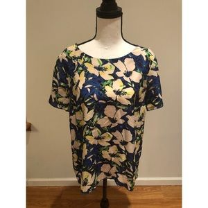 J. Crew Floral Blouse Size Medium
